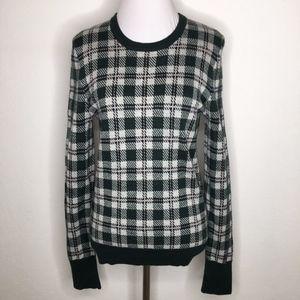 Equipment Plaid Long Sleeve Sweater Size Medium